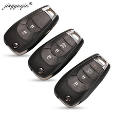 Jingyuqing 20 stücke/lot 2/3/4 Taste Fernbedienung Auto Schlüssel Shell Fob Für Chevrolet Cruze Malibu Chevy Flip Folding Key fall Ersatz