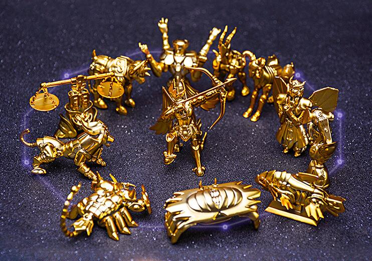 12pcs/set Saint Seiya The Gold Zodiac Action Figure PVC Collection Model Toys Brinquedos For Christmas Gift