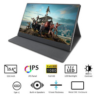 Patented product 15.6 Inch USB Type C Touch Screen Portable Monitor 1080P IPS HDR Gaming Monitor with CE ROHS certification