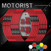 Motorcycle Stickers inner wheel reflective decoration rim stripes decals For HONDA HOINET hoinet a kit of 10 stripes sticker