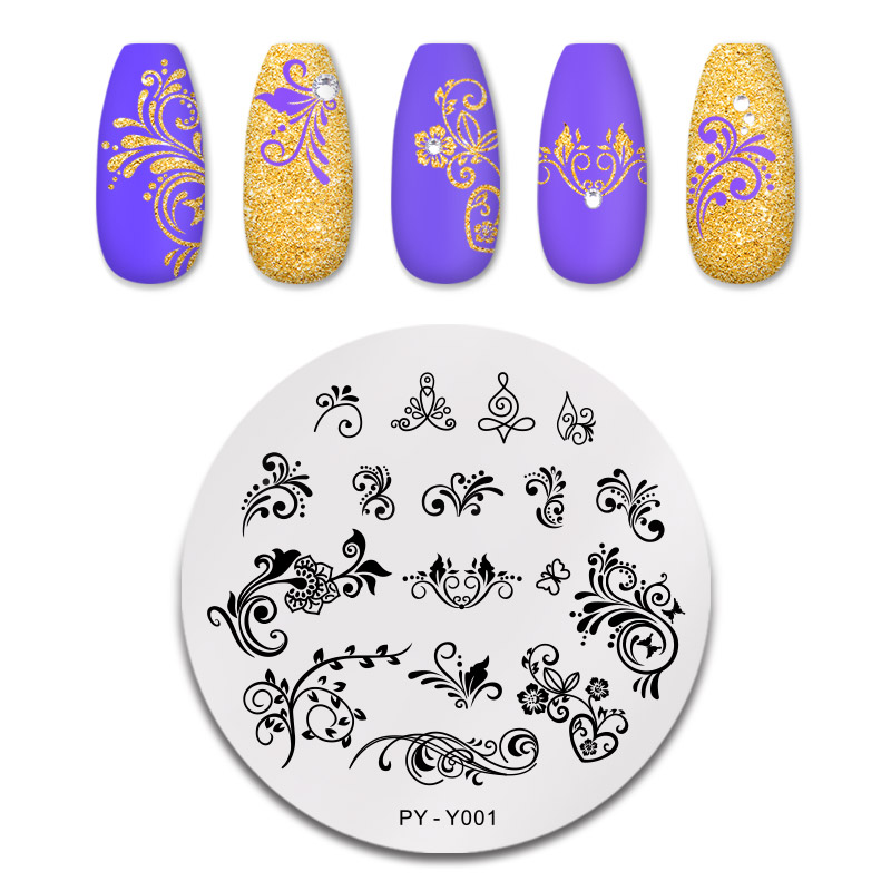 PICT YOU 12*6cm Nail Art Templates Stamping Plate Design Flower Animal Glass Temperature Lace Stamp Templates Plates Image 16