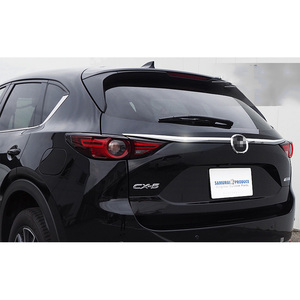 Image 3 - For Mazda CX 5 CX5 2017 2018 2019 2020 KF Car Rearguard Trunk Rear Bumper Tail Box Door Trim Stickers Strip Garnish Styling