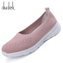 Chaussette baskets chaussures plates femmes chaussures sans lacet baskets femmes décontracté respirant maille chaussette grande taille 2020 mode Feminino Zapatos