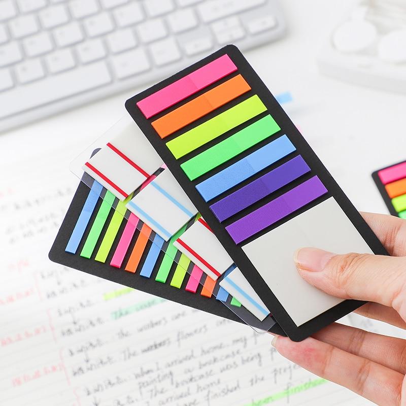 300 folhas mínimo ins estilo fluorescência auto adesivo bloco de memorando notas pegajosas marcador marcador estudante artigos de papelaria material de escritório