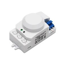 Горячая 5,8 GHz HF система светодиодный микроволновый 360 градусов радар Датчик Движения светильник переключатель тела детектор движения
