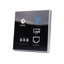 Интеллектуальный беспроводной Wi-Fi ретранслятор 300 Мбит/с, настенный удлинитель, 2,4 ГГц, панель маршрутизатора с USB разъемом