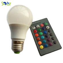 3W E27 5W 10W RGB LED Bulb 16 Color Spotlight with IR Remote Controller AC85-265V Spot Lamp for Home Party Decoration