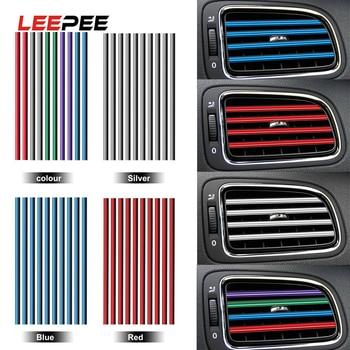 10 Pieces/set Air Conditioner Outlet Grille Decoration U Shape DIY Chrome Styling Moulding Car Air Vent Trim Strip Car-styling