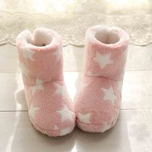 Soft Warm Winter Snow Boots woman shoes new arrival Home Mute Cute Soft Plush Ball Women Interior Boots Plus velvet Warm boots(China)