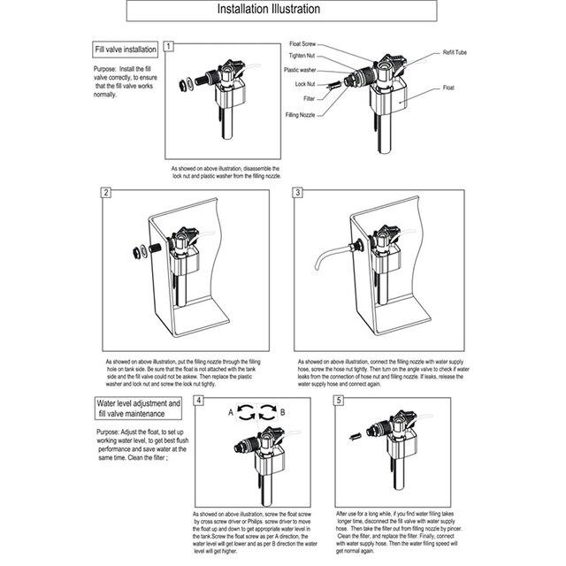 Купить впускной клапан для бокового входа в унитаз фитинги резервуара картинки цена