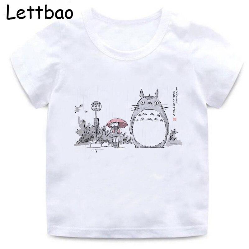 Детская футболка в Корейском стиле Totoro Studio ghiсот, модная аниме футболка, забавная модная футболка Tumblr, Графические Топы, детская одежда