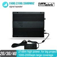 27dBm 2G 3g 4G Мобильный усилитель сигнала FDD2600 1800 2100 МГц трёхполосный проект WCDMA UMTS LTE ретранслятор 80 дБ усилитель для 2000 кв. М