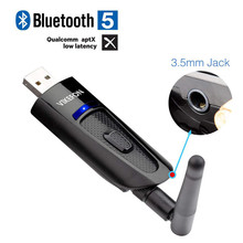 Aptx השהיה נמוכה LL 20M ארוך טווח Bluetooth 5.0 אודיו משדר טלוויזיה מחשב PS4 נהג משלוח 3.5MM AUX שקע RCA USB אלחוטי מתאם