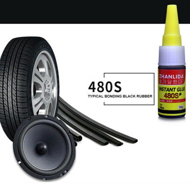 1 pçs 480 s super cola reparação de pneus automóveis cola ferramenta de reparo de bicicleta reparação de borracha pneu cola janela alto falante vedação reparação de pneus cola - 3