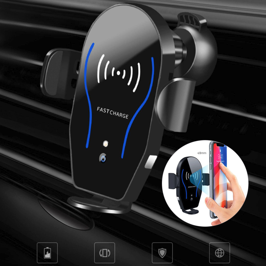 10W Wireless Fast Charger X8 Wireless Car Charger Car Phone Holder Infrared Intelligent