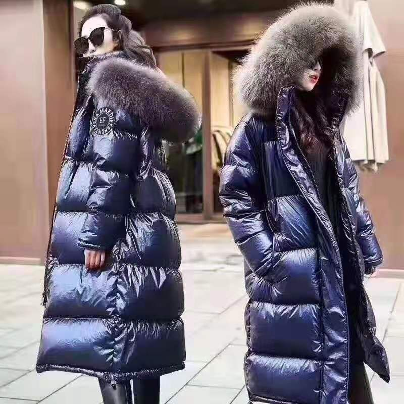 Factory Direct Fashion Women's Pure Natural Fur Women's Jacket 100% White Duck Down Ladies Warm Jacket,