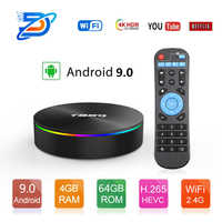 T95Q 4GB 64GB Android 9.0 TV Box DDR3 Amlogic S905X2 Quad Core 2.4G & 5GHz double Wifi BT4.1 100M H.265 4K lecteur multimédia PK X96 tvbox