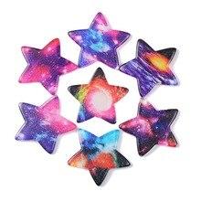10Pcs Mixed UV Resin Transparent Moon Decoration Crafts Flatback Cabochon Kawaii DIY Embellishments For Scrapbooking Accessories недорого