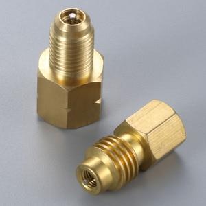 Image 4 - 2Pcs R1234yf Hose Adapter 1/2inch ACME LH Left Hand 1/4inch SAE Female FL Brass Valve Core
