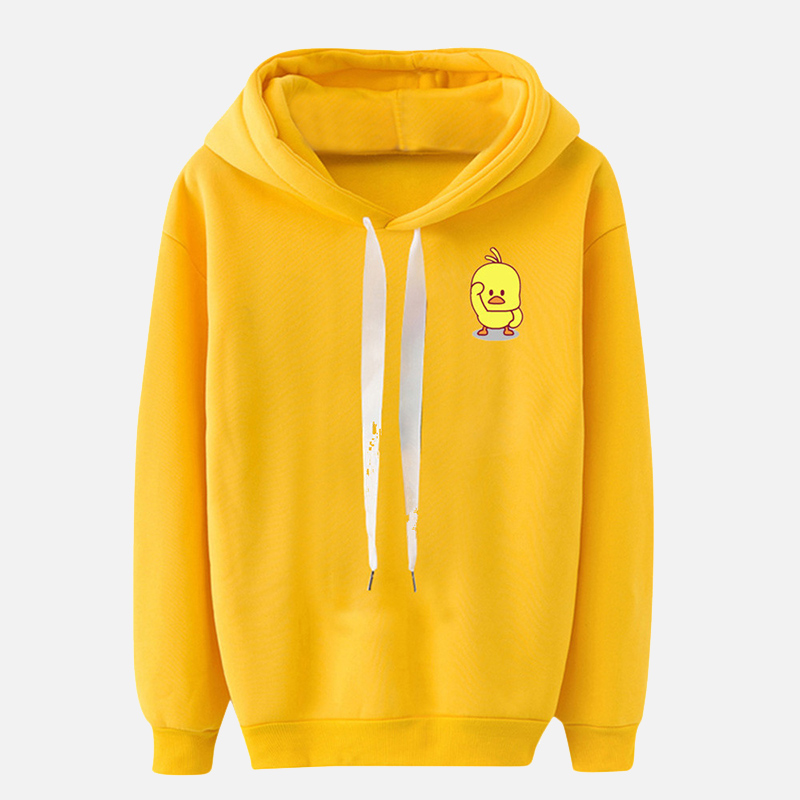 Women Hoodies Cartoon Print Casual Hooded Drawstring Sweatshirt Woman Fashion Long Sleeve Hoody 2019 Autumn Female Pullover thumbnail