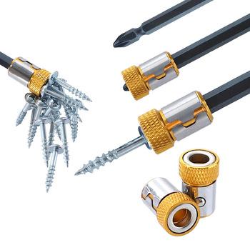 Uchwyt na wkrętaki pierścień magnetyczny 1 4 #8222 6 35mm Metal Strong Magnetizer wkrętak Bit śruba Pick Up Tools część szybka dostawa tanie i dobre opinie meijiabuy CN (pochodzenie) DHT631