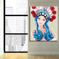 Beijing Opera DIY Painting By Numbers Kits Calligraphy Painting Acrylic Paint By Number For Home Decoration A work of art