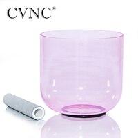 CVNC 432Hz 4 Octave 7 Light Pink Clear Quartz Crystal Singing Bowl