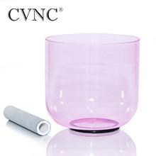 "CVNC 432Hz 4 Octave 7 ""bol chantant en cristal de Quartz clair rose clair"