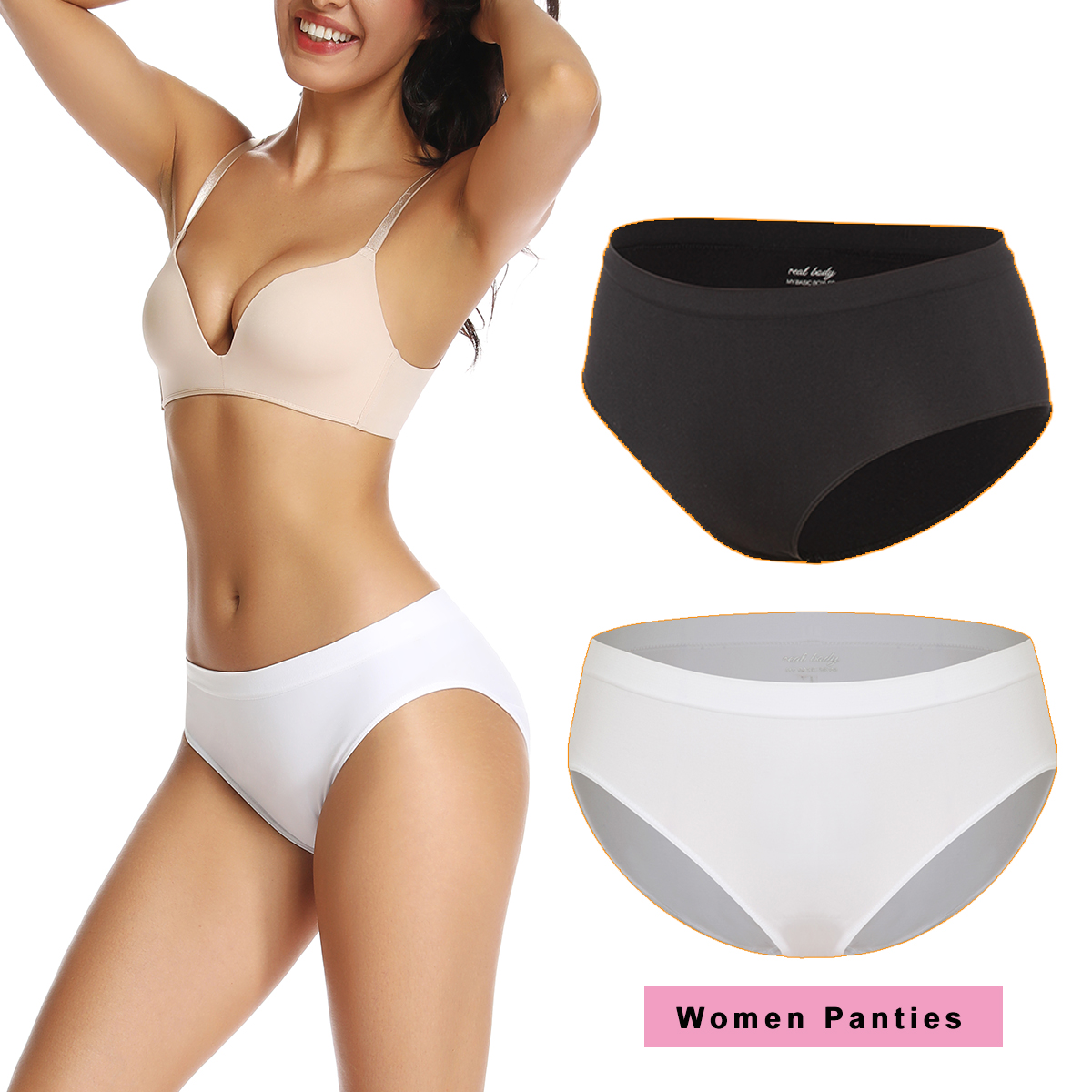 Women Panties Briefs Seamless Underwear Sexy Panty Underpants Cotton Crotch G String Women's Intimates Bikini Shorts Lingerie