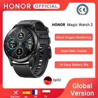 In Magazzino Globale Versione Honor Magia Orologio 2 Astuto Della Vigilanza di Bluetooth 5.1 Smartwatch di Ossigeno Nel Sangue 14 Giorni Impermeabile MagicWatch 2