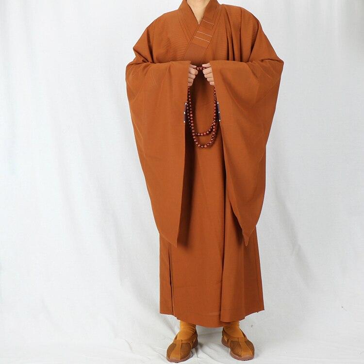 Monk Clothes Haiqing Lay Buddhist Women Sub-cotton Linen Disfraz Monje Men Zen Meditation Gown Meditacion 4 Color