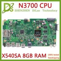 KEFU X541SA motherboard REV2.0 fit Für ASUS X541SA X541S dual core N3710 CPU Laptop motherboard 4GB memory test arbeit 100%-in Laptop-Hauptplatine aus Computer und Büro bei