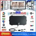 Цифровая HDTV антенна с диапазоном 960 миль, 4K, комнатная усиленная антенна HD 1080P, с функцией Freeview TV для жизни, местные каналы вещания