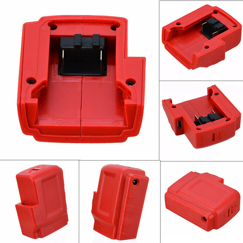 USB Ports Battery Charger Adapter Converter Portable Accessories For Milwaukee M18 LKS99