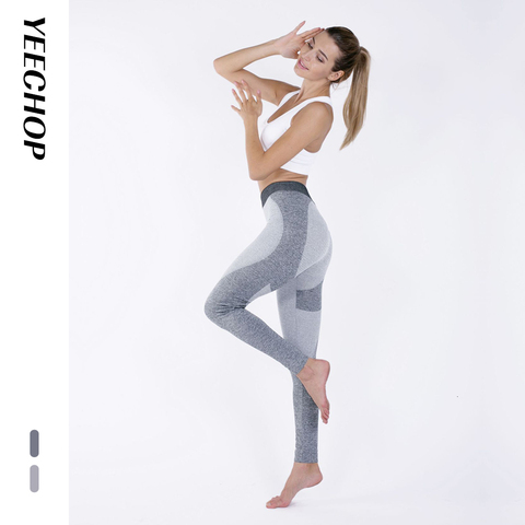 Yeechop Women Workout Seamless Leggings Push Up Fitness Leggings Female Fashion Patchwork Mujer S -XL Leggings Yoga Sport Pants Islamabad