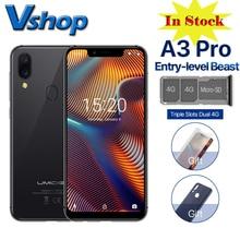 Téléphone portable dorigine Umidigi A3 Pro 4G Android 8.1 3GB + 32GB Quad Core Version mondiale Smartphone 12MP + 5MP téléphone portable didentification de visage