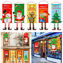 Adornos navideños para el hogar cartel de puerta de Papá Noel, Feliz Navidad Regalo colgante, adornos navideños, decoración de Año Nuevo 2020, 2021