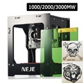 NEJE DK-8-KZ 1000/2000/3000 МВт Профессиональная DIY настольный мини фрезерный станок с ЧПУ лазерный гравер Резак для лазерной гравировки машина для рез...