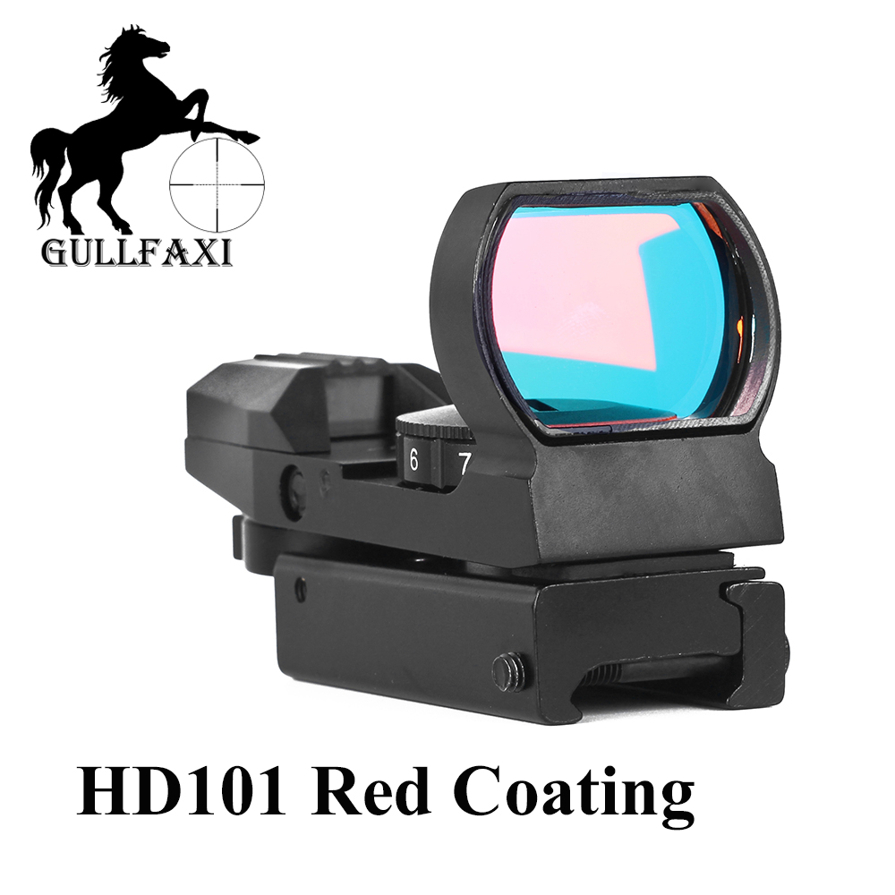 Gullfaxi Red Dot Sight Scope HD101 Red Coating For Winter Snow Outdoor Hunting Optic Sight Airsoft Rifle Collimator Sight