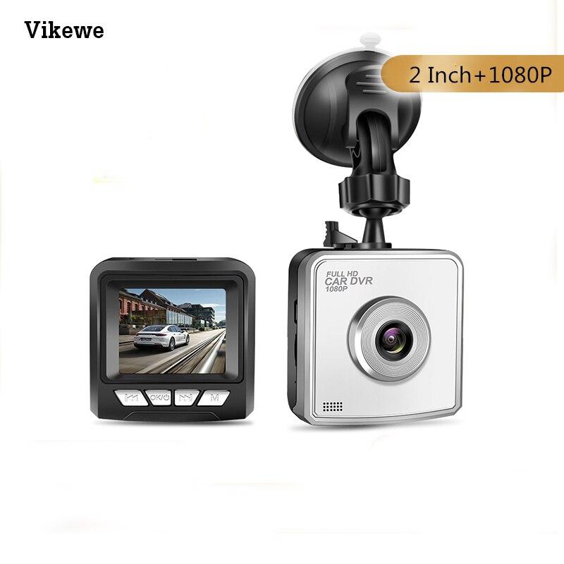 Vikewe Car DVR Dash Camera Driving Recorder 2 Inch HD 1080P Lens TF Card Reader G Sensor Loop Recording Wide Angle Night Vision title=