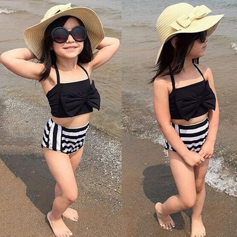 Wish Hot Selling Bathing Suit Europe And America Camisole Bow Girls Bikini Set J41189 AliExpress CHILDREN'S Swimsuit