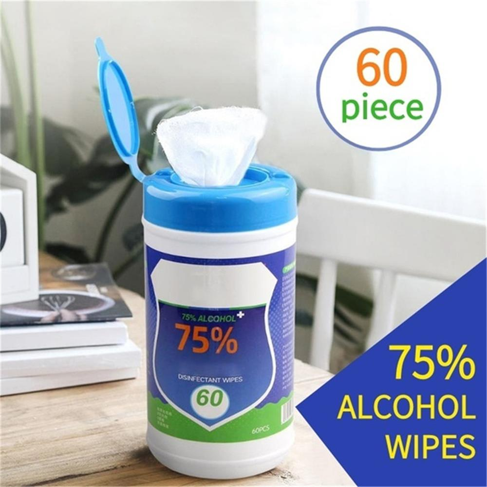 60/100PCS 75% Alcohol Wet Wipe Disposable Disinfection Car Home Cleaning Wet Wipes Hand Portable Wipe Antiseptic Skin Cleaning