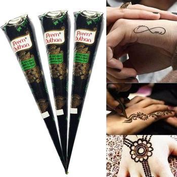 Naturalny ziołowy Prem Dulhan brązowy Henna stożek tymczasowy tatuaż tatuaże do ciała atrament lato tanie i dobre opinie CN (pochodzenie) Tatuaż akcesoria As shown