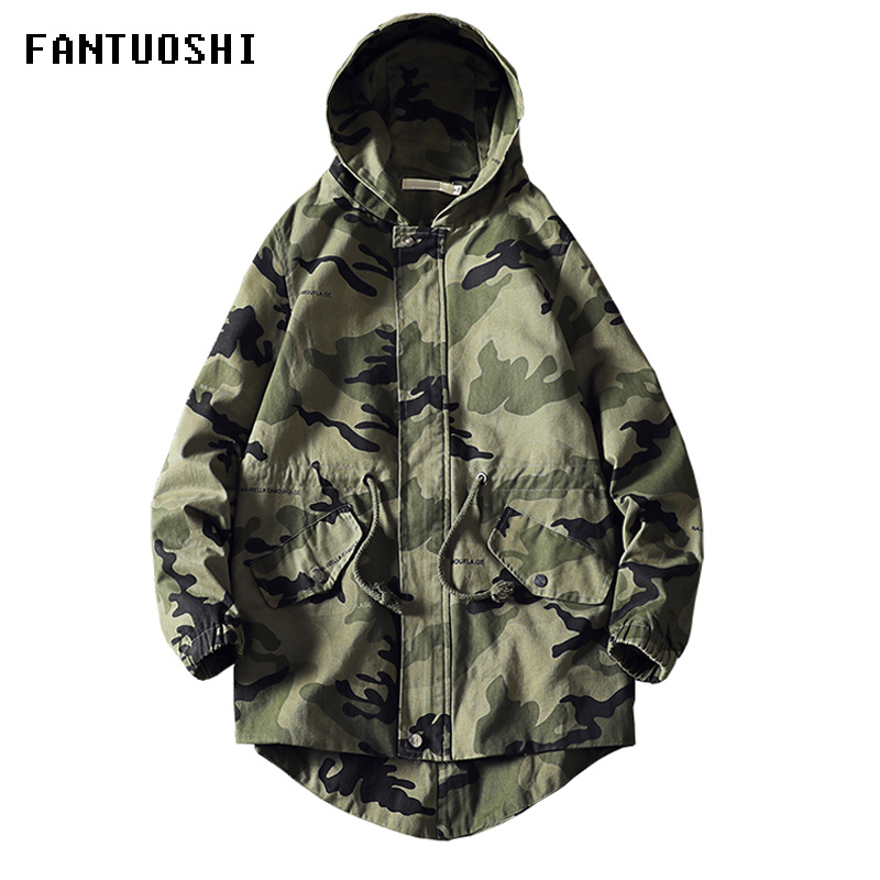 Hot Sale 2019 Autumn And Winter New Men's Jacket Printing Slim Casual Camouflage Jacket Hooded Coat Fashion Large Size 5XL