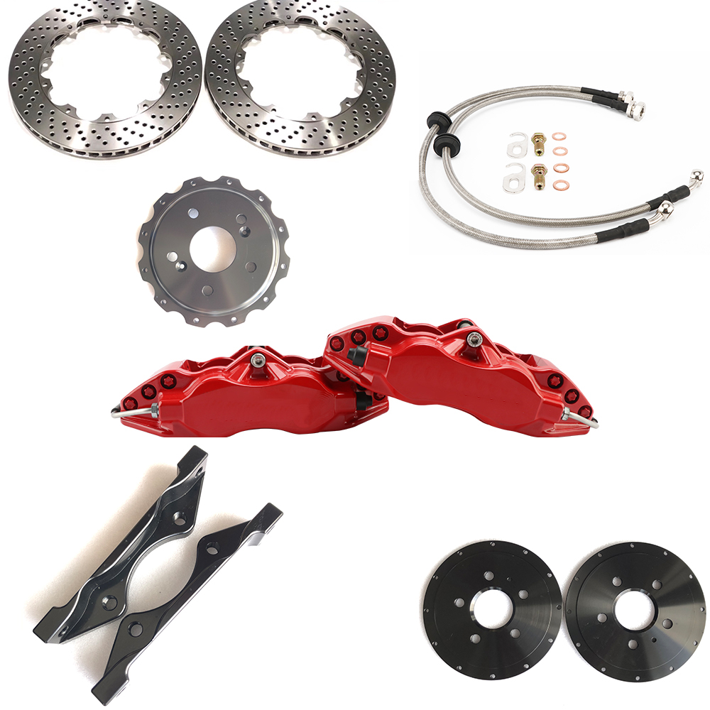 Jekit 9200 Spare parts for car brake system 355*28mm drilled brake disc red calipers