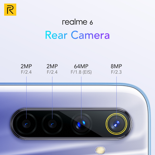 realme 6 8GB 128GB NFC Global Version 90Hz Display Helio G90T 30W Flash Charge 4300mAh Battery 64MP 8