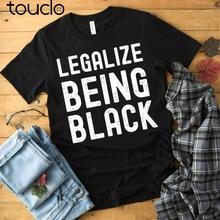 Camisa de história preta-legalize ser camiseta preta-camiseta mês de história preta