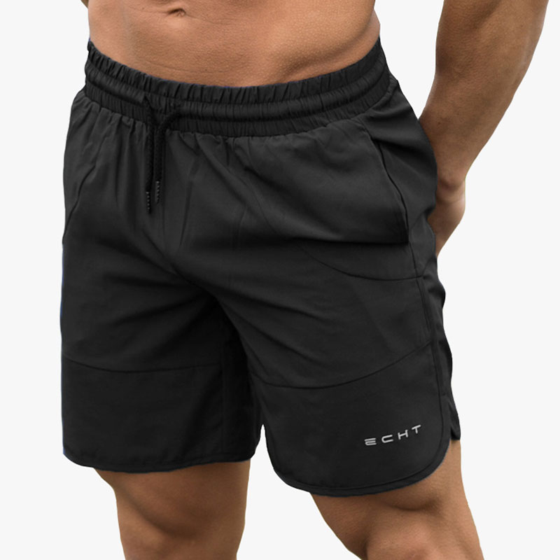 Fitness Mens Shorts Summer Solid Elastic Waist Quick Dry Compression Shorts 50