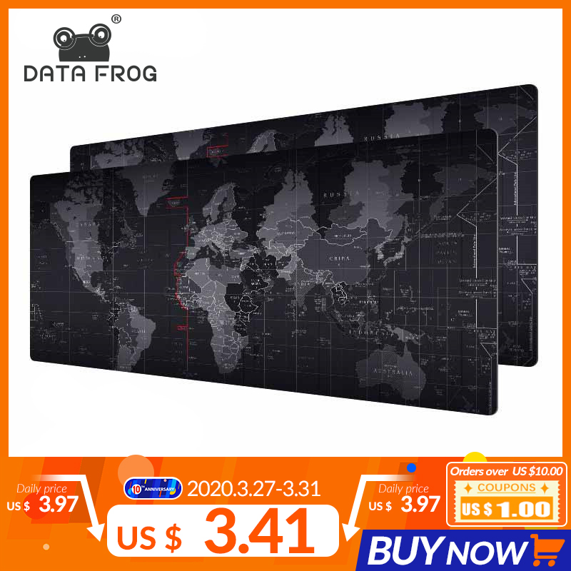 DATA FROG Gaming Mouse Pad Computer Gamer Big Mouse Mat Anti-slip Keyboard Mousepad Mats For PC Laptop Desk Resting Surface Mat