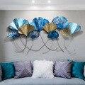 Creatieve 3D Nordic decoratie thuis 3D ijzer ginkgo bladeren muur opknoping woonkamer achtergrond muur kamer decoracion habitacion